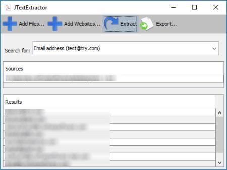 direcciones de correo de un PDF
