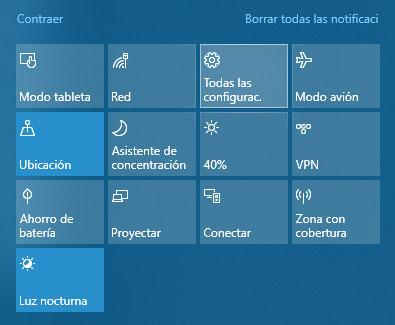 página de configuración de windows 10
