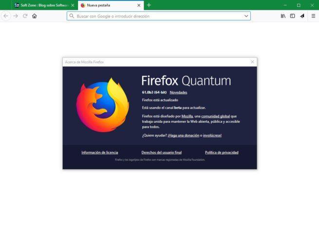 Firefox 61 Beta