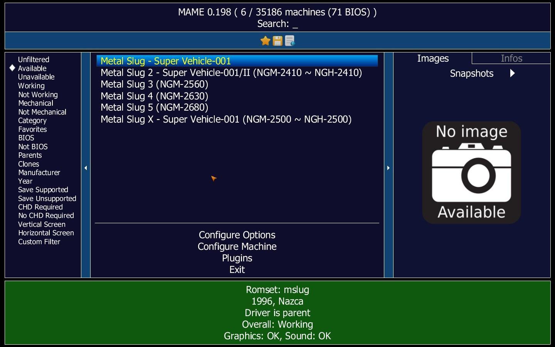 emulador mame configurado