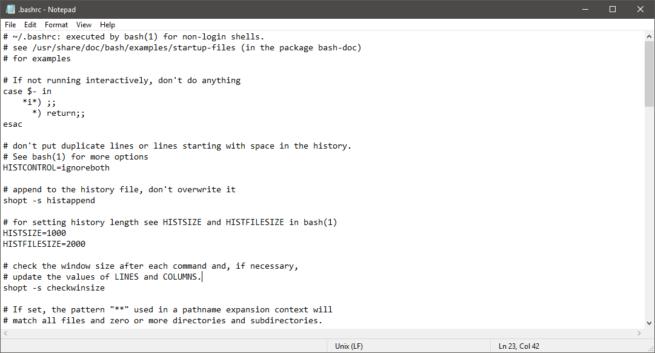Microsoft Nuevo Bloc de Notas Fichero Linux