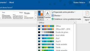 Cómo cambiar y personalizar la paleta de colores de un documento en Word