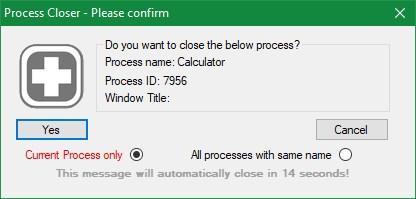 Process Closer - Confirmar cerrar