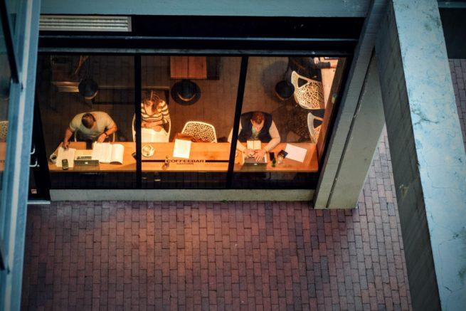Wi-Fi en cafetería pública