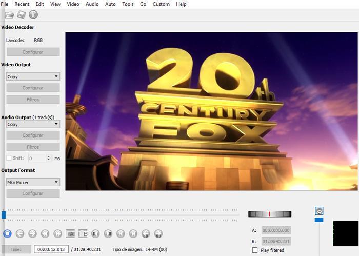 Avidemux vídeo