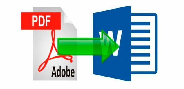 como convertir mi archivo de pdf a word