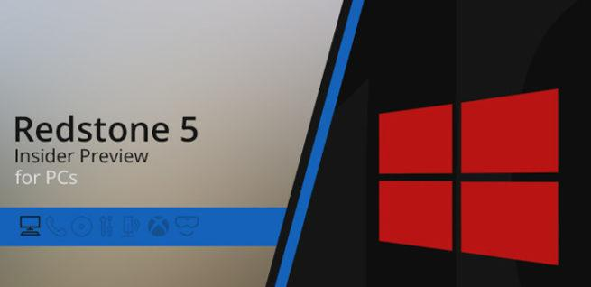 Windows 10 Redstone 5