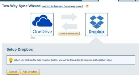 OneDRive con Dropbox