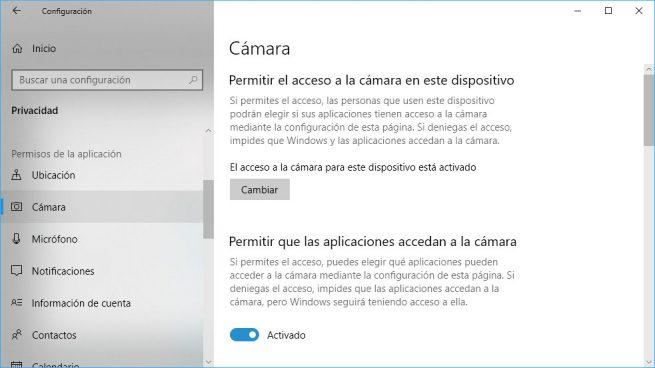 privacidad en windows 10
