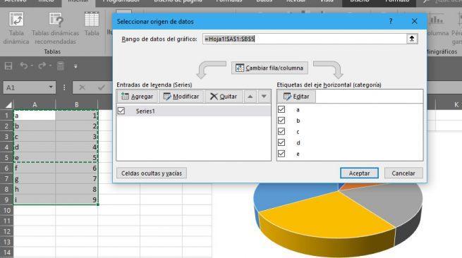 hacer gráficos en Excel