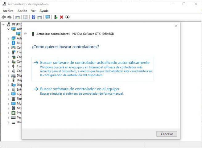 Actualizar drivers automáticamente Windows 10