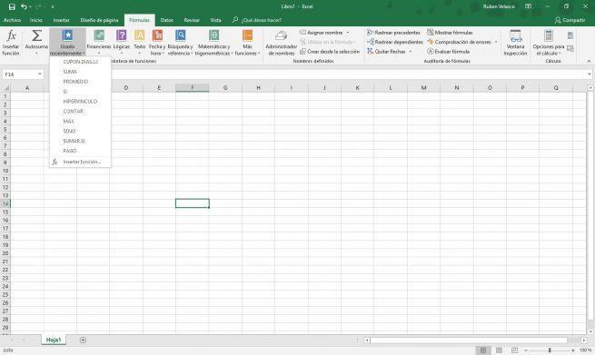 Lista fórmulas Excel 1
