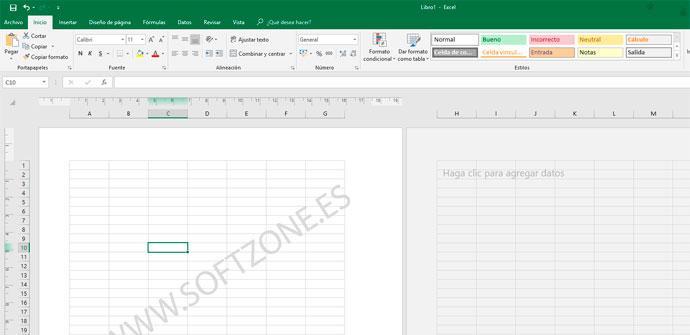 Marca de agua Excel SoftZone