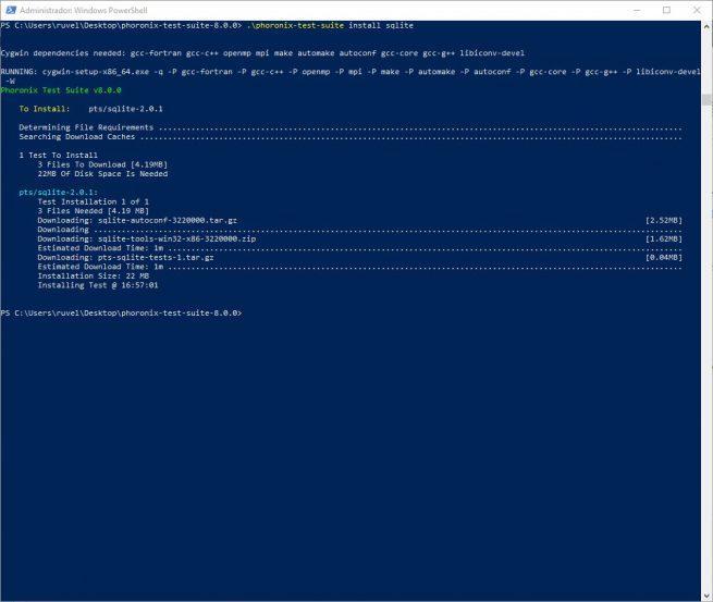 Phoronix Test Suite 8.0 - Instalar test