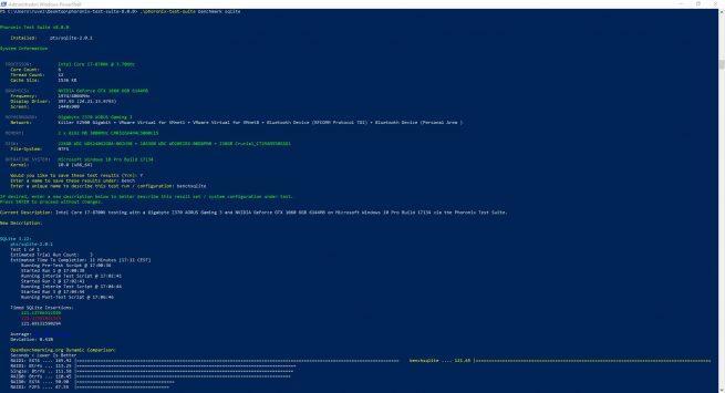 Phoronix Test Suite 8.0 - Resultados benchmark