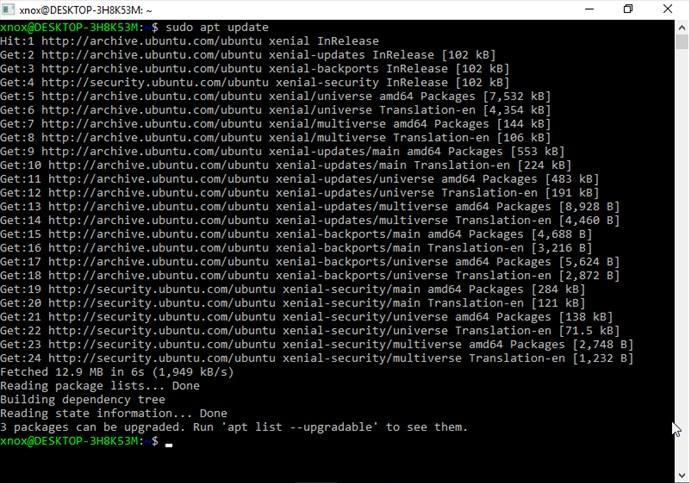 Ubuntu Subsistema Linux para Windows