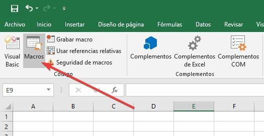 Ver y ejecutar Macros en Excel