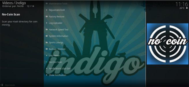 Kodi Indigo