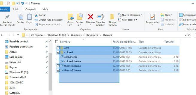 invertir la selección de archivos