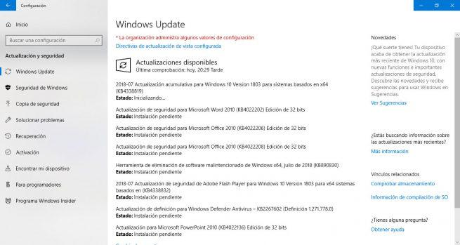 parches de seguridad de julio 2018 para Windows