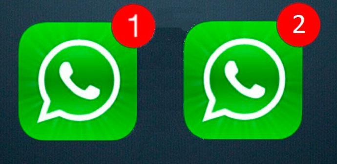 dos cuentas de whatsapp