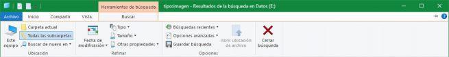 Barra de búsqueda explorador archivos Windows 10