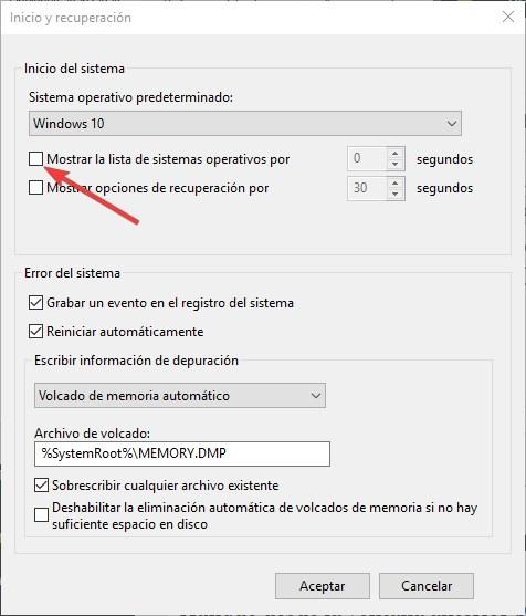 Desactivar pantalla boot windows 10