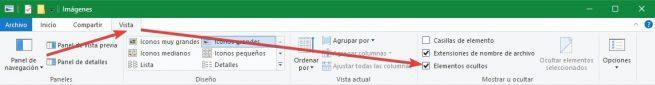 No mostrar archivos ocultos Windows