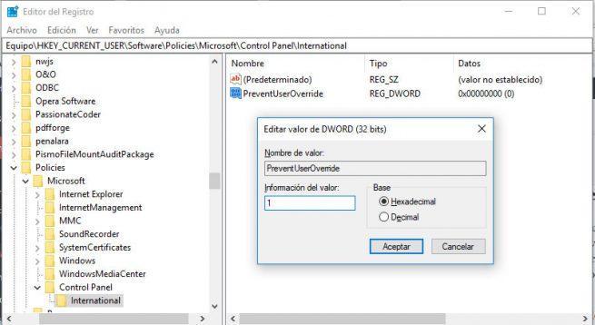 fecha y hora de Windows 10