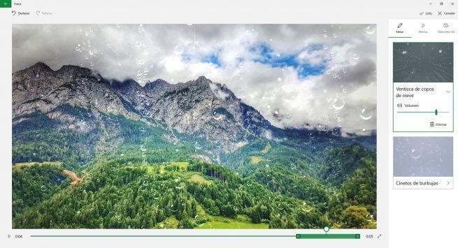 Editar efectos 3D fotos Windows 10