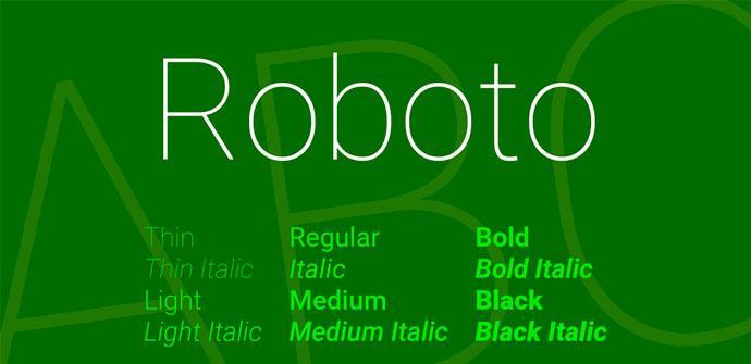 Fuente Roboto