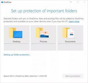 Nueva función sincronizar carpetas OneDrive