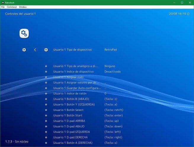 Opciones controles RetroArch 2
