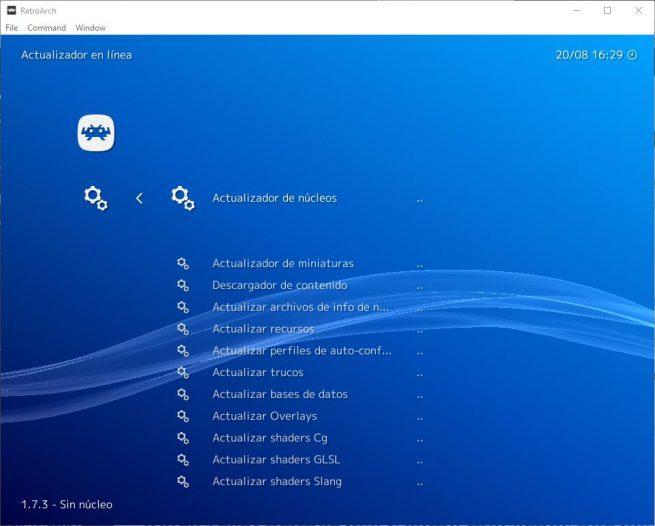RetroArch - Actualizar