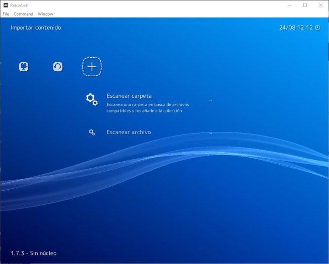 RetroArch - Importar contenido