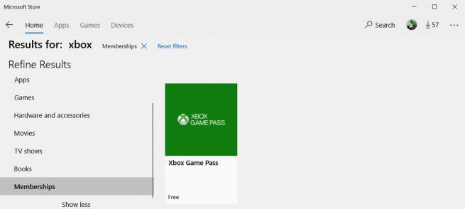 Suscripciones Microsoft Store
