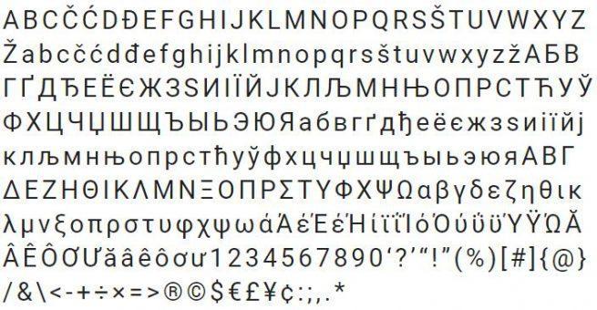 Tipografía Roboto
