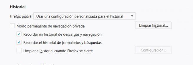 Limpiar autorellenar Chrome Firefox
