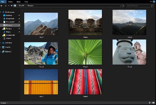 Modo oscuro Explorador Windows 10
