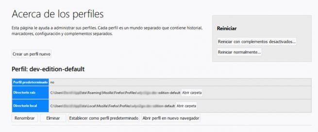 Firefox perfiles