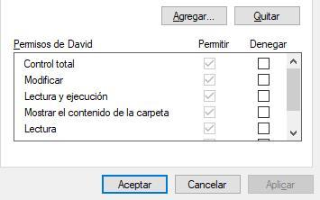 Permisos Windows 10