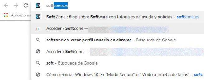 sugerencias de Chrome
