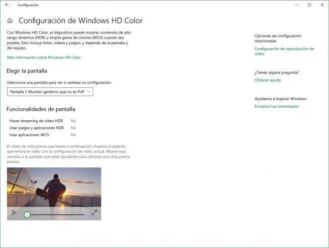 HDR en Windows 10 October 2018 Update 2