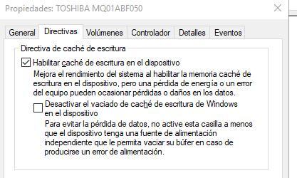 Caché Windows 10