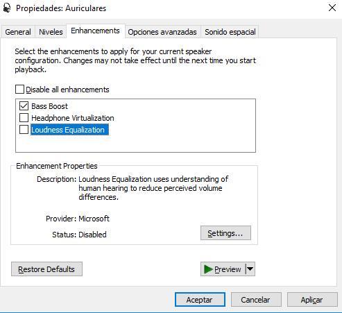 Sonido Windows 10