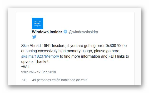 Windows 10 fallo