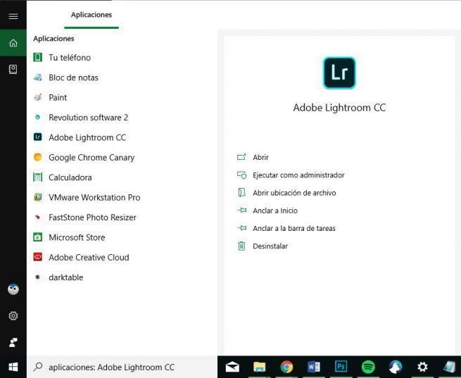 Búsqueda de aplicaciones Cortana Windows 10 October 2018 Update