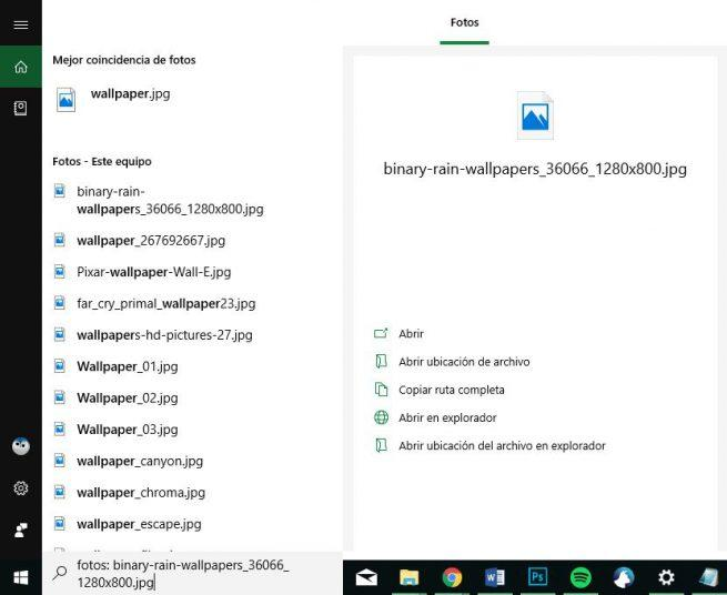 Fotos - Cortana en Windows 10 October 2018 Update