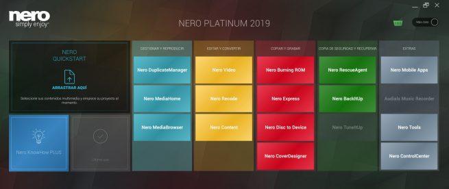 Nero 2019 Start