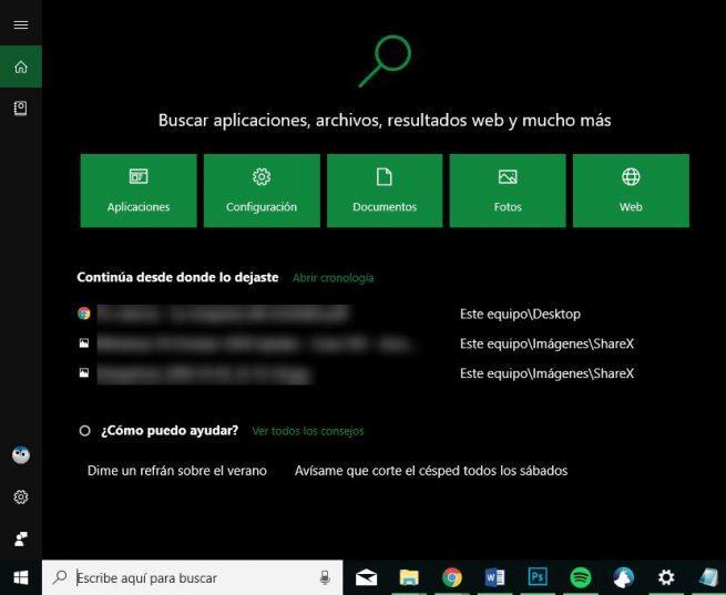 Nuevo Cortana Windows 10 October 2018 Update